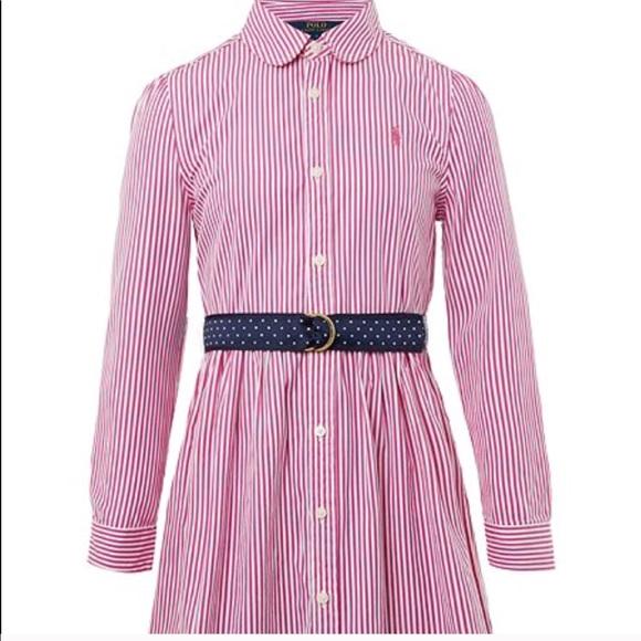 3c625e928 Polo Ralph Lauren Girls Bengal Stripe Shirt Dress
